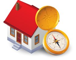 House and compass